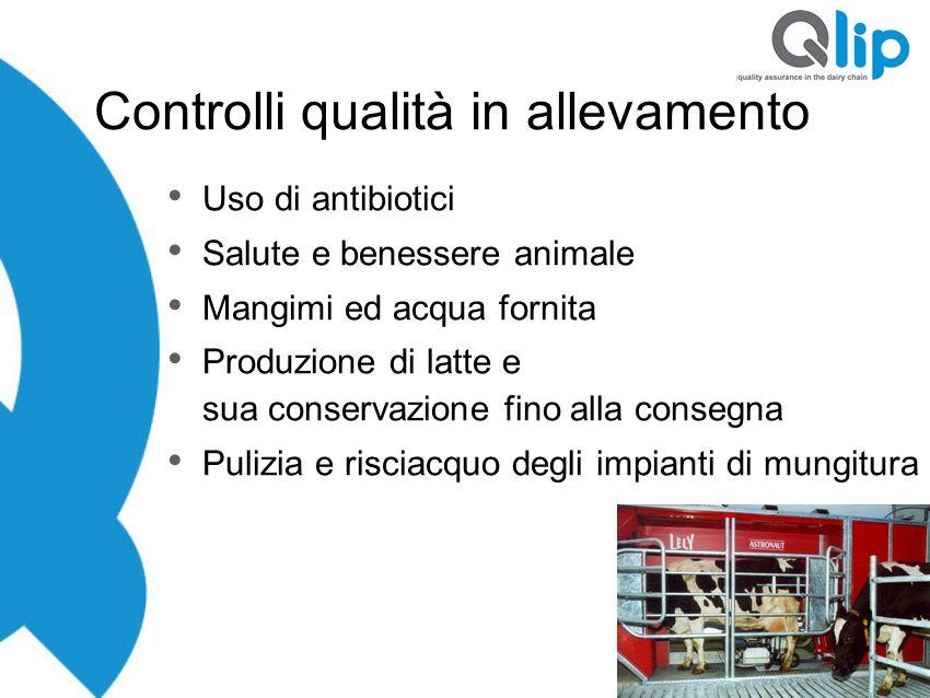 Controlli qualità in allevamento