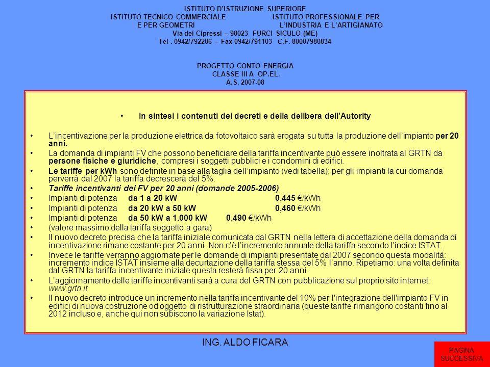 In sintesi i contenuti dei decreti e della delibera dell'Autority