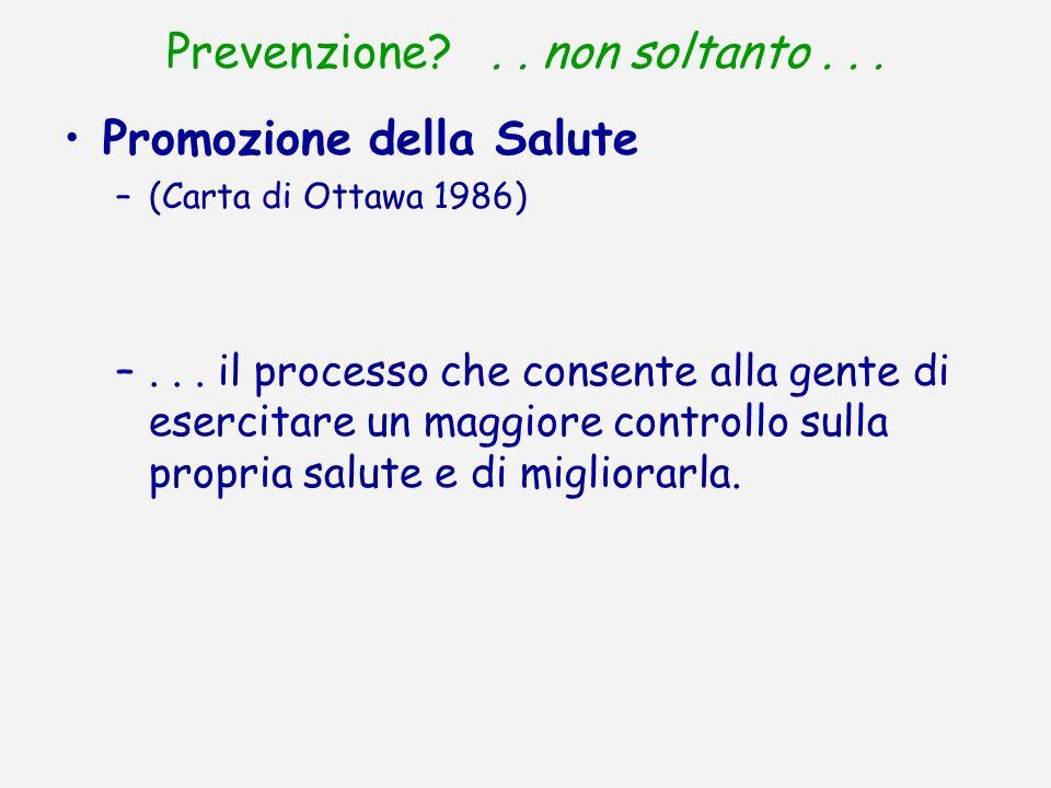 Prevenzione . . non soltanto . . .