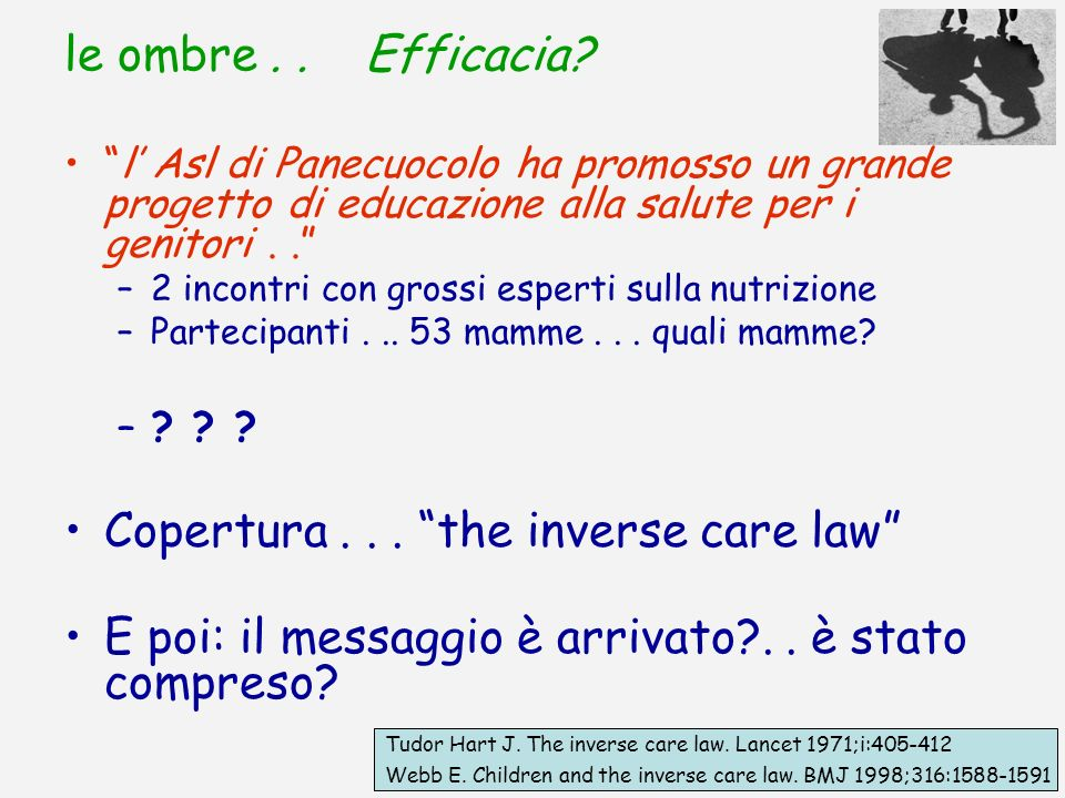 Copertura . . . the inverse care law