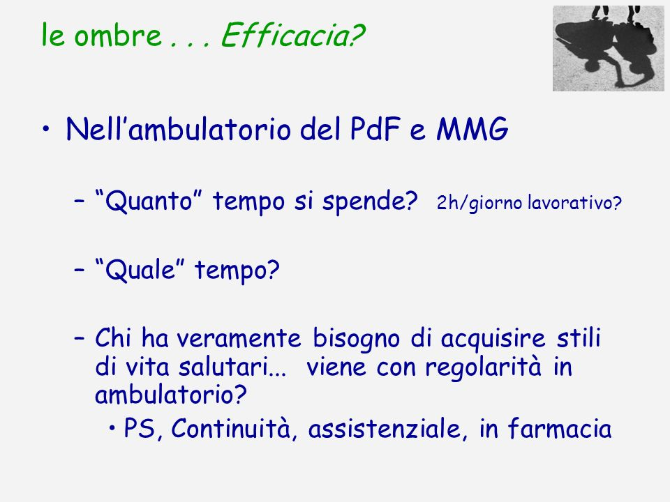 Nell'ambulatorio del PdF e MMG