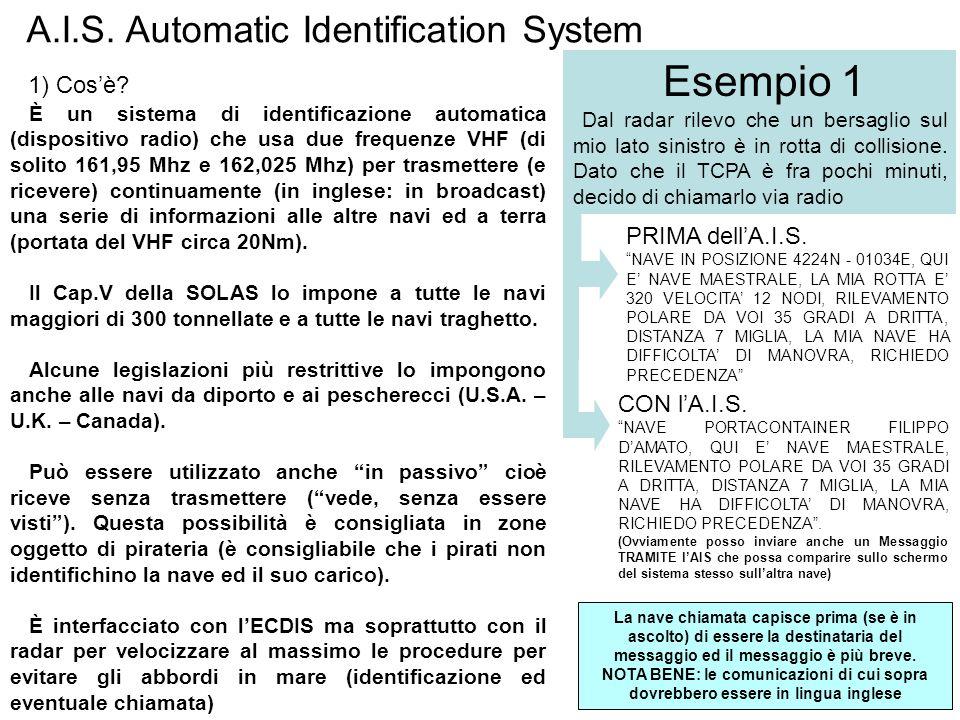 Esempio 1 A.I.S. Automatic Identification System 1) Cos'è