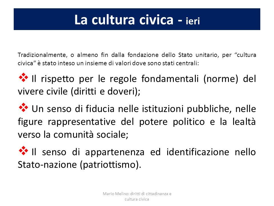 La cultura civica - ieri