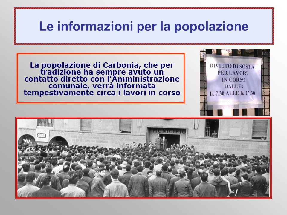 Le informazioni per la popolazione