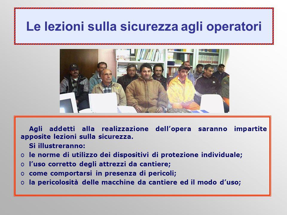 Le lezioni sulla sicurezza agli operatori
