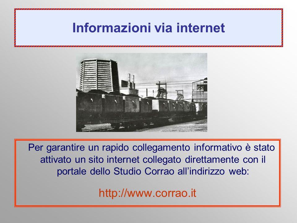 Informazioni via internet