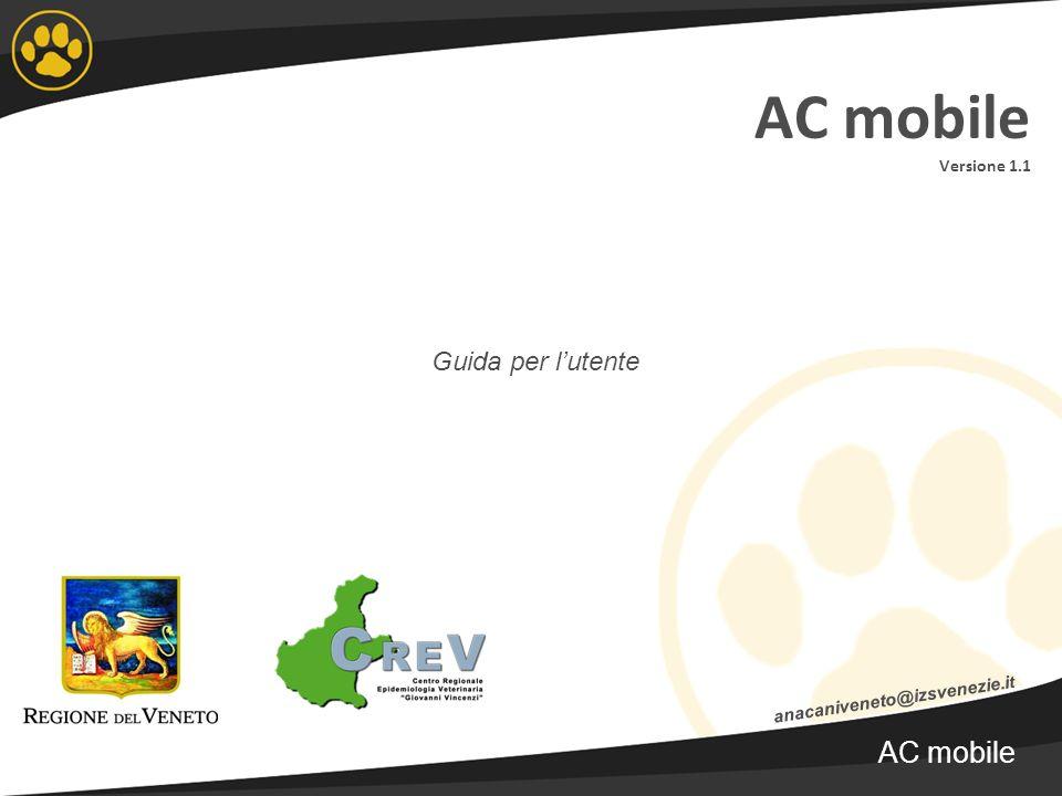 AC mobile Versione 1.1 AC mobile Guida per l'utente