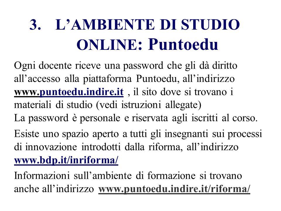 L'AMBIENTE DI STUDIO ONLINE: Puntoedu