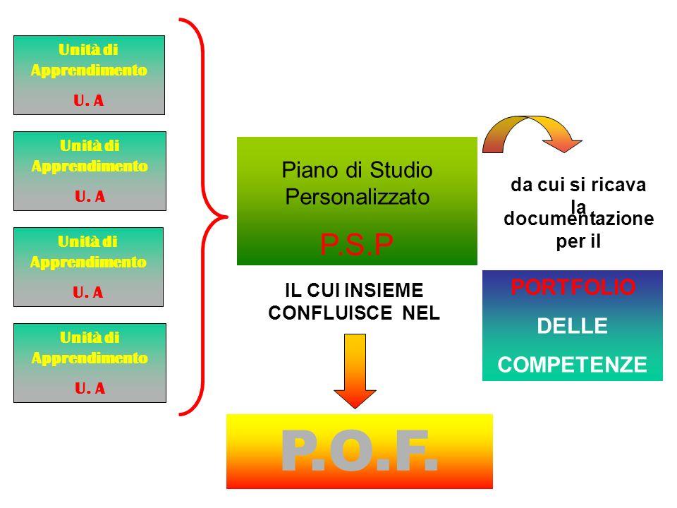 P.O.F. P.S.P Piano di Studio Personalizzato PORTFOLIO DELLE COMPETENZE