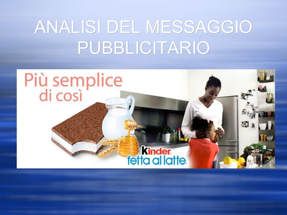 ANALISI DEL MESSAGGIO PUBBLICITARIO