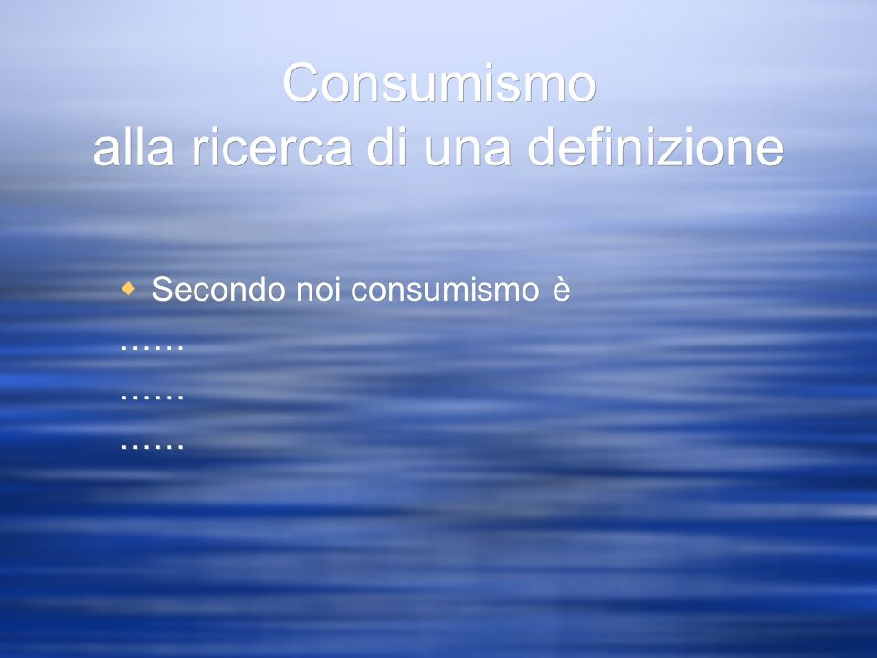 Consumismo alla ricerca di una definizione