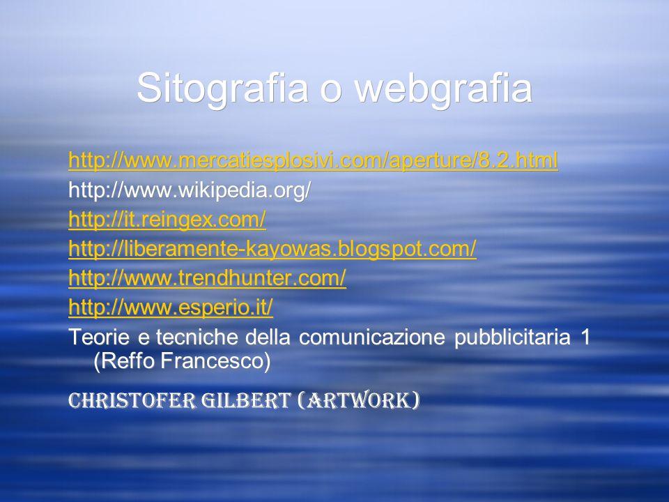 Sitografia o webgrafia