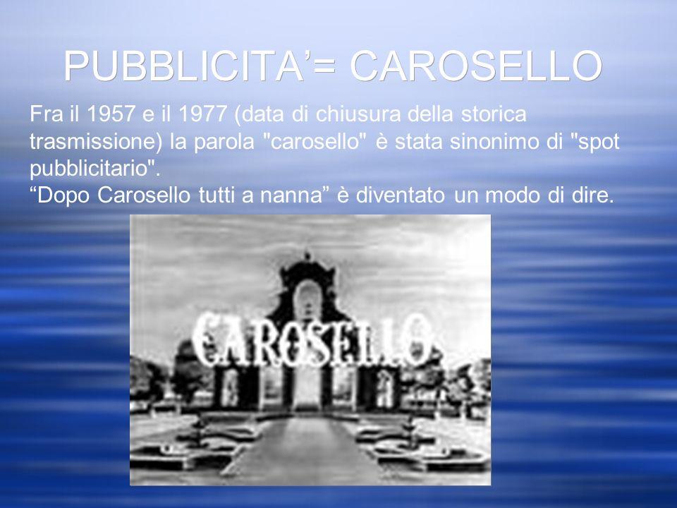 PUBBLICITA'= CAROSELLO