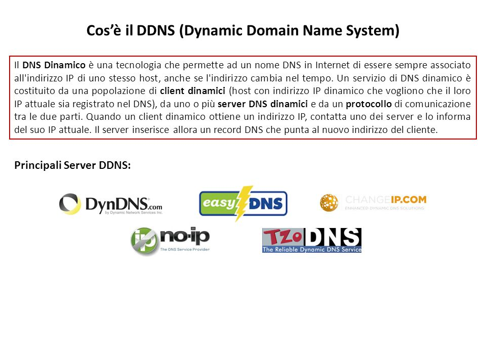 Cos'è il DDNS (Dynamic Domain Name System)