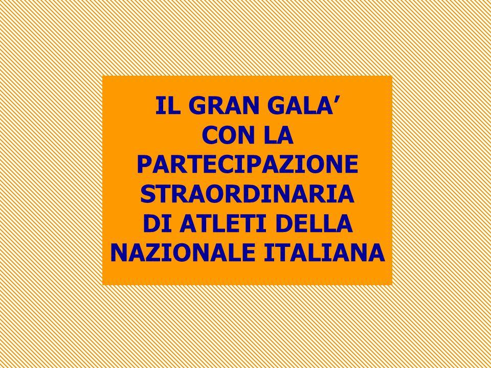 PARTECIPAZIONE STRAORDINARIA DI ATLETI DELLA NAZIONALE ITALIANA
