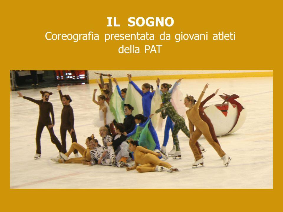 Coreografia presentata da giovani atleti