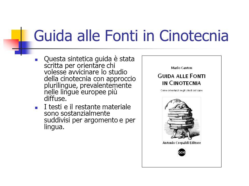 Guida alle Fonti in Cinotecnia