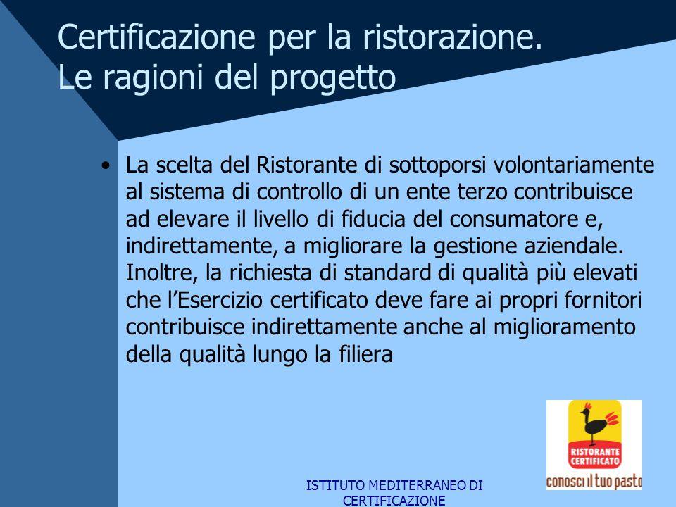 Certificazione per la ristorazione. Le ragioni del progetto