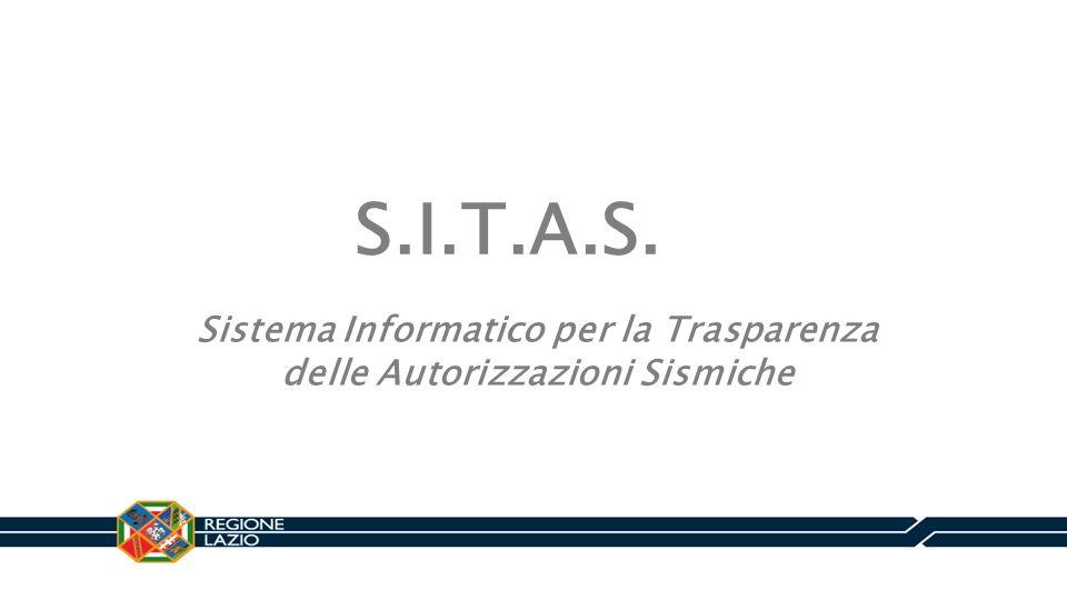 Sistema Informatico per la Trasparenza delle Autorizzazioni Sismiche