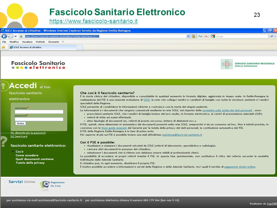 Fascicolo Sanitario Elettronico https://www.fascicolo-sanitario.it