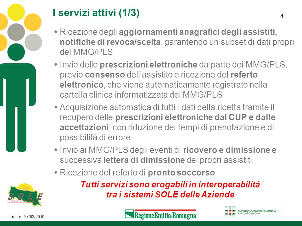 I servizi attivi (1/3)