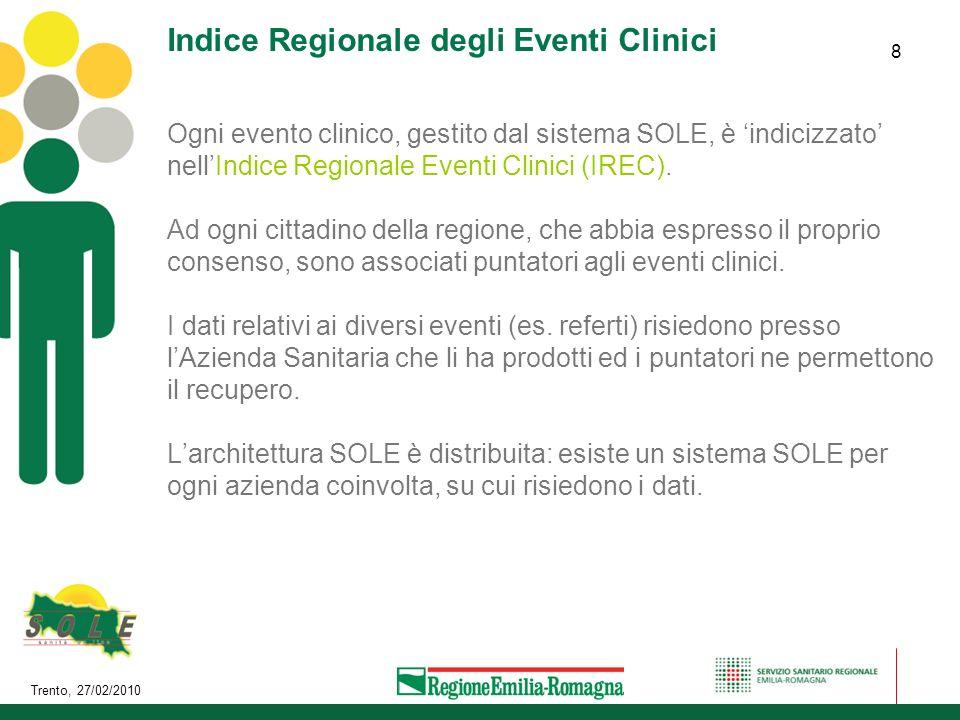 Indice Regionale degli Eventi Clinici