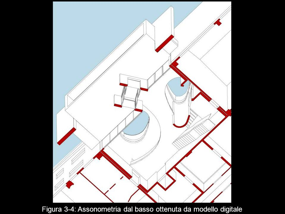Figura 3‑4: Assonometria dal basso ottenuta da modello digitale