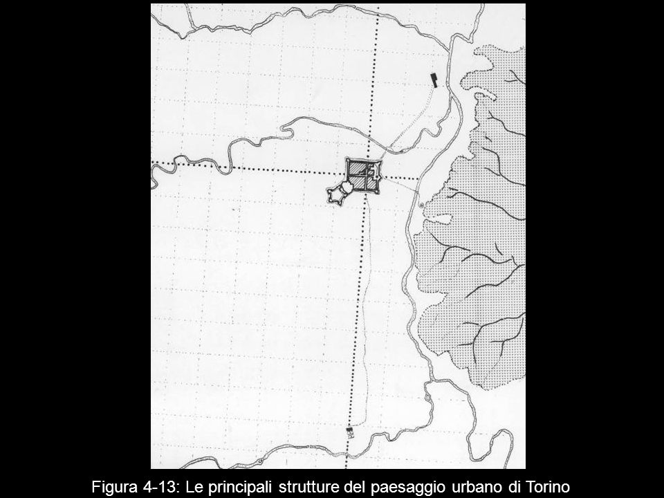 Figura 4‑13: Le principali strutture del paesaggio urbano di Torino