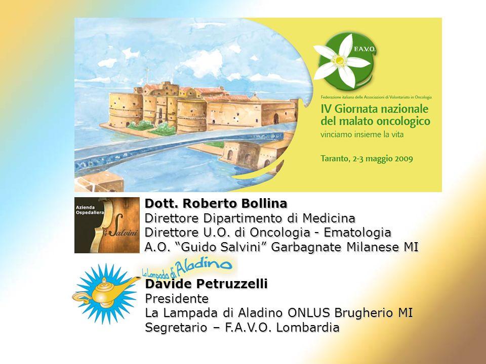 Dott. Roberto Bollina Direttore Dipartimento di Medicina. Direttore U.O. di Oncologia - Ematologia.