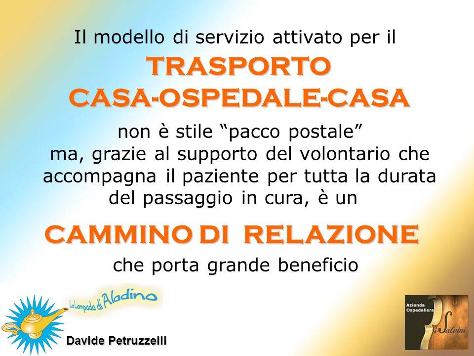 TRASPORTO CASA-OSPEDALE-CASA CAMMINO DI RELAZIONE