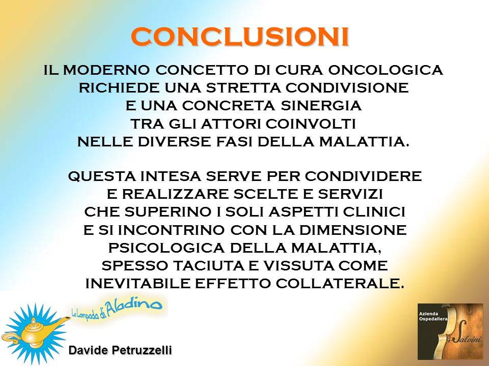 CONCLUSIONI IL MODERNO CONCETTO DI CURA ONCOLOGICA