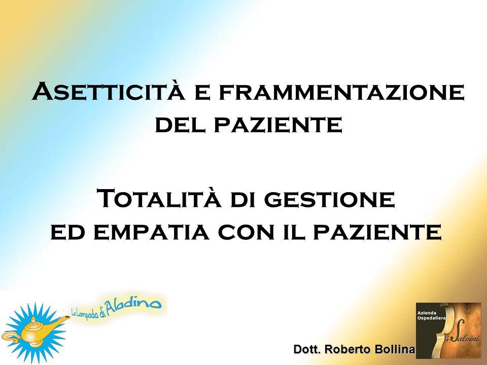 Asetticità e frammentazione del paziente