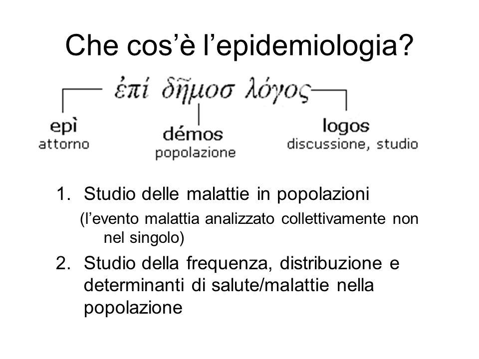 Che cos'è l'epidemiologia