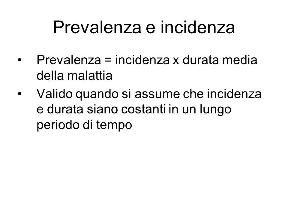Prevalenza e incidenza