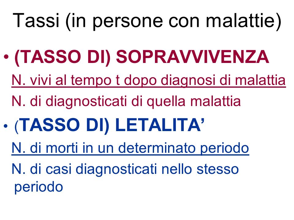 Tassi (in persone con malattie)