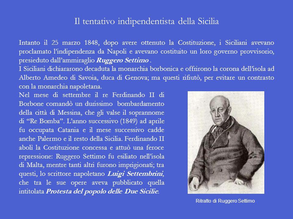 Il tentativo indipendentista della Sicilia