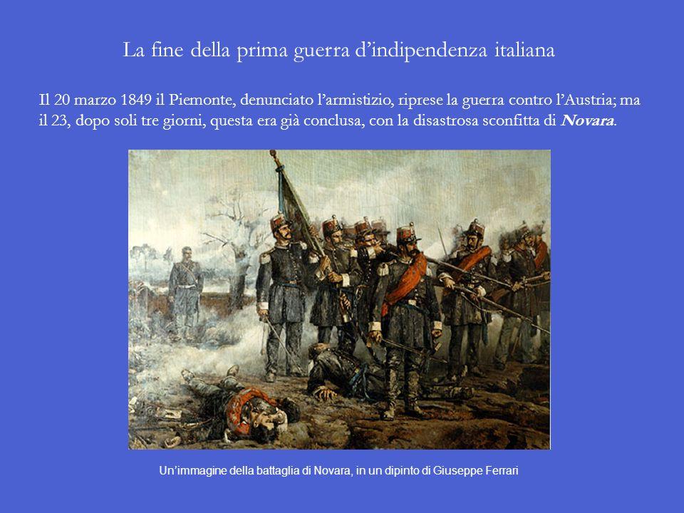 La fine della prima guerra d'indipendenza italiana