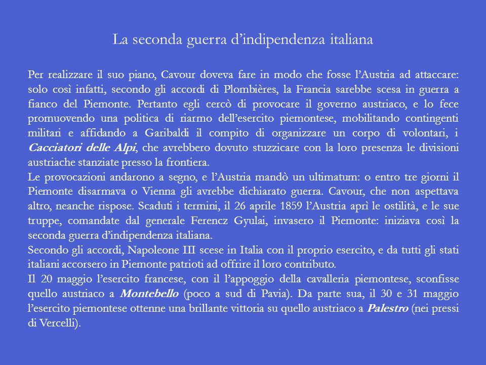 La seconda guerra d'indipendenza italiana