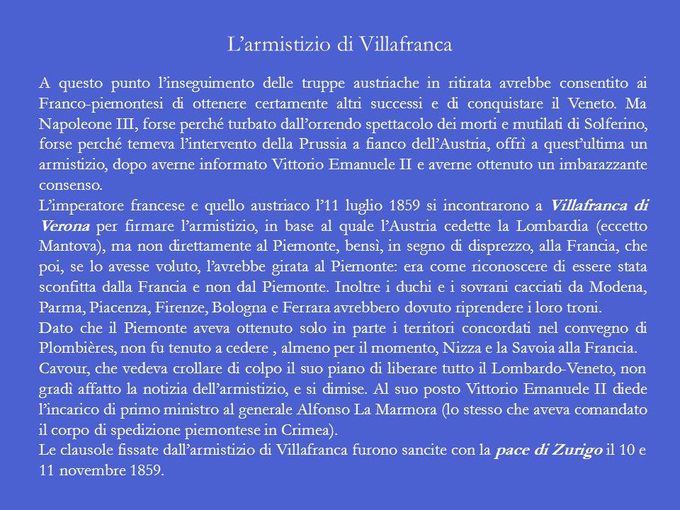 L'armistizio di Villafranca