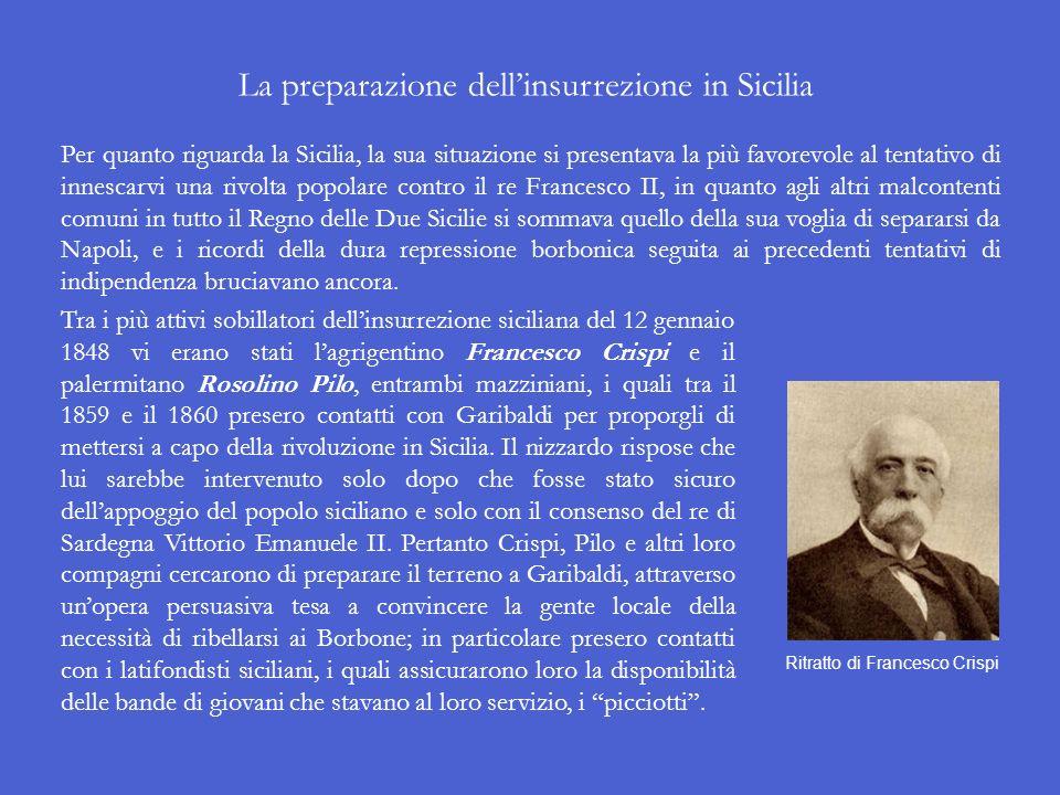 La preparazione dell'insurrezione in Sicilia