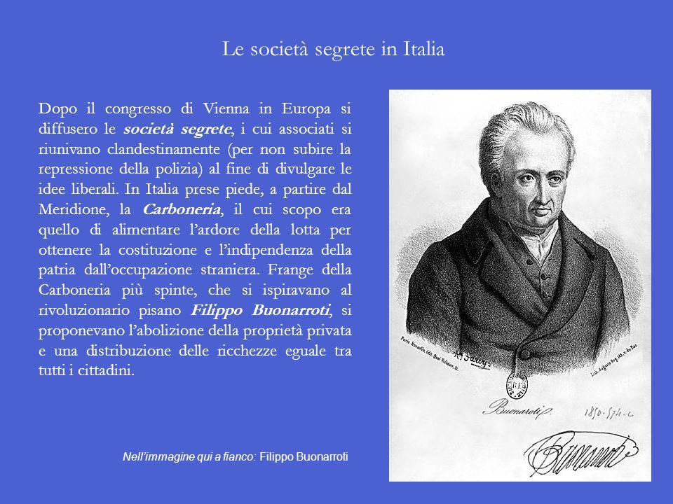 Le società segrete in Italia