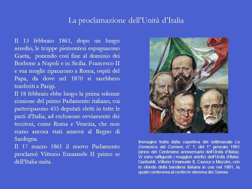 La proclamazione dell'Unità d'Italia