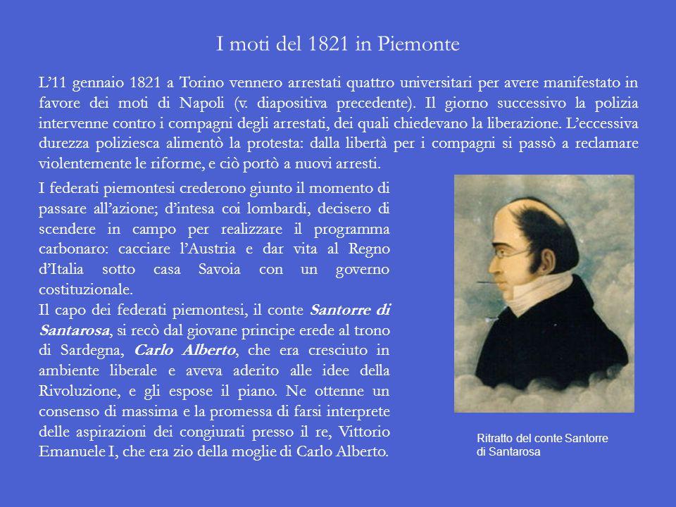 I moti del 1821 in Piemonte