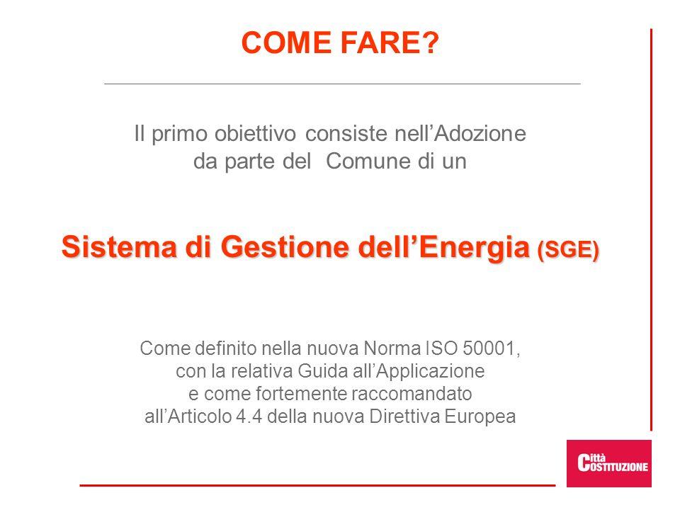 Sistema di Gestione dell'Energia (SGE)