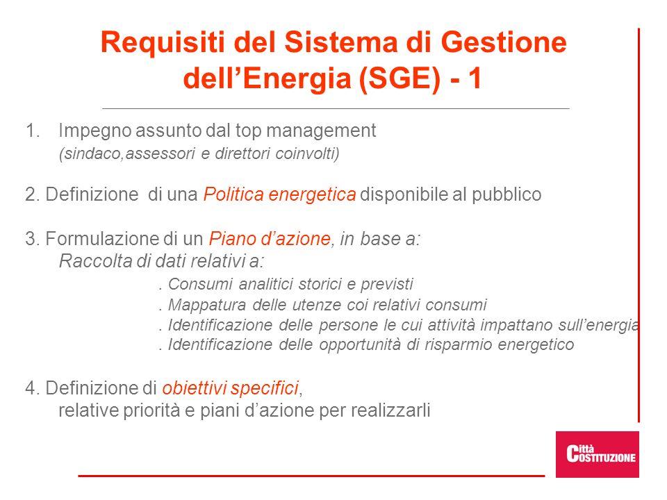 Requisiti del Sistema di Gestione dell'Energia (SGE) - 1