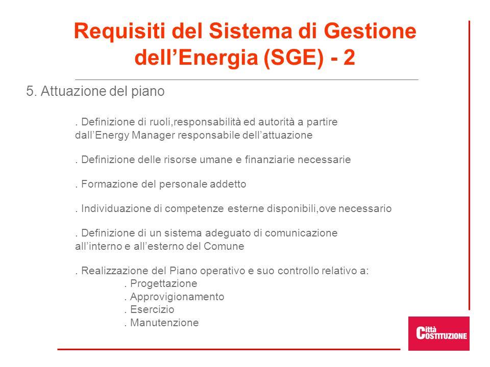 Requisiti del Sistema di Gestione dell'Energia (SGE) - 2