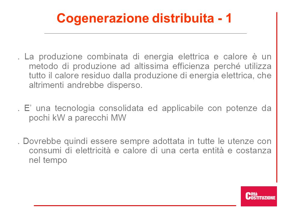 Cogenerazione distribuita - 1