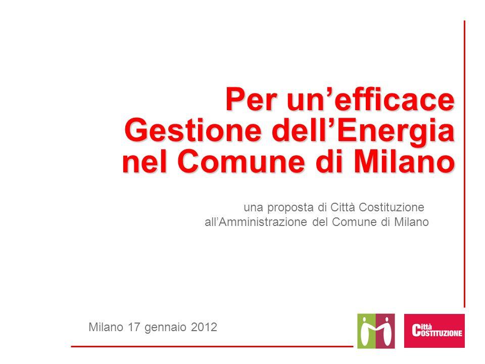 Per un'efficace Gestione dell'Energia nel Comune di Milano
