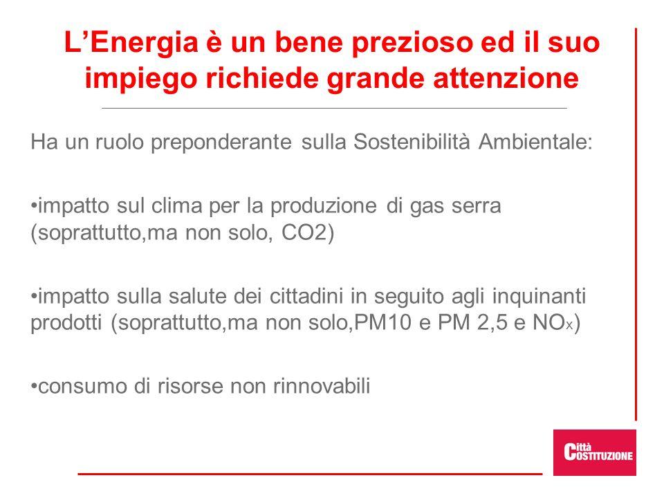 L'Energia è un bene prezioso ed il suo impiego richiede grande attenzione