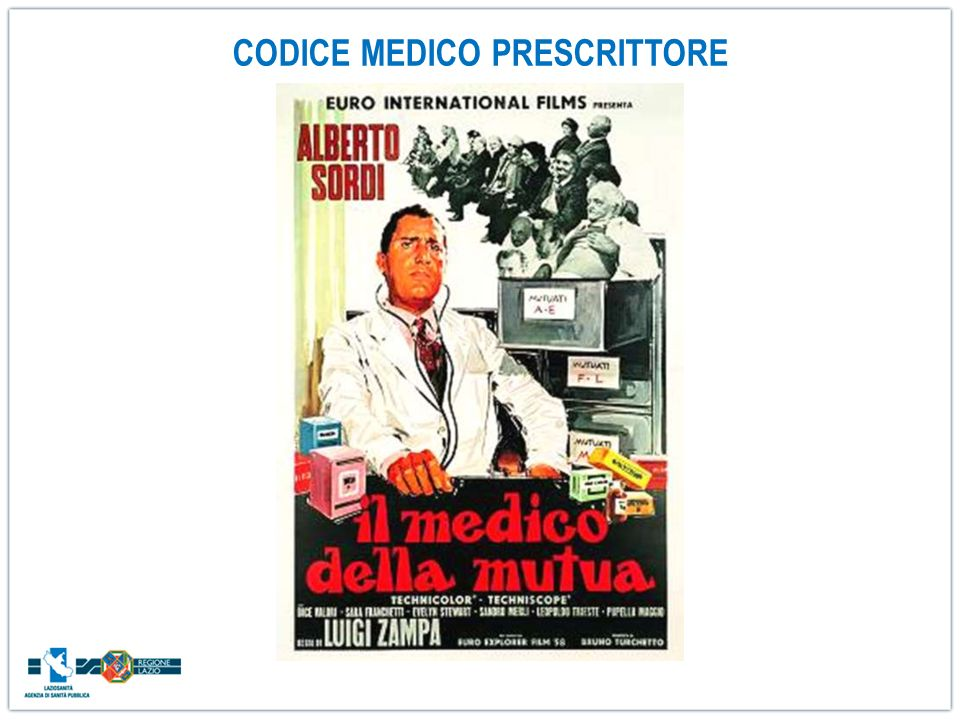 CODICE MEDICO PRESCRITTORE
